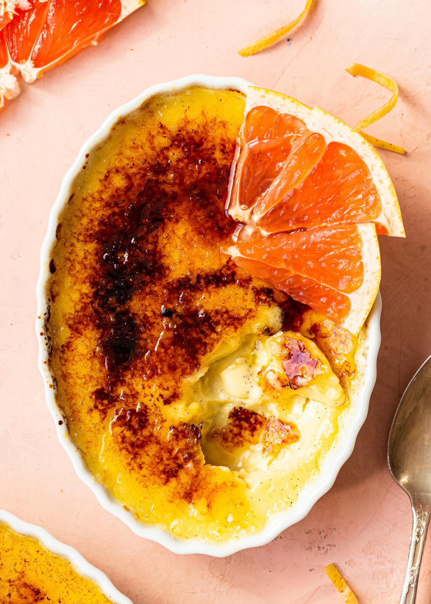 Grapefruit Crème Brulée with Citrus Curd