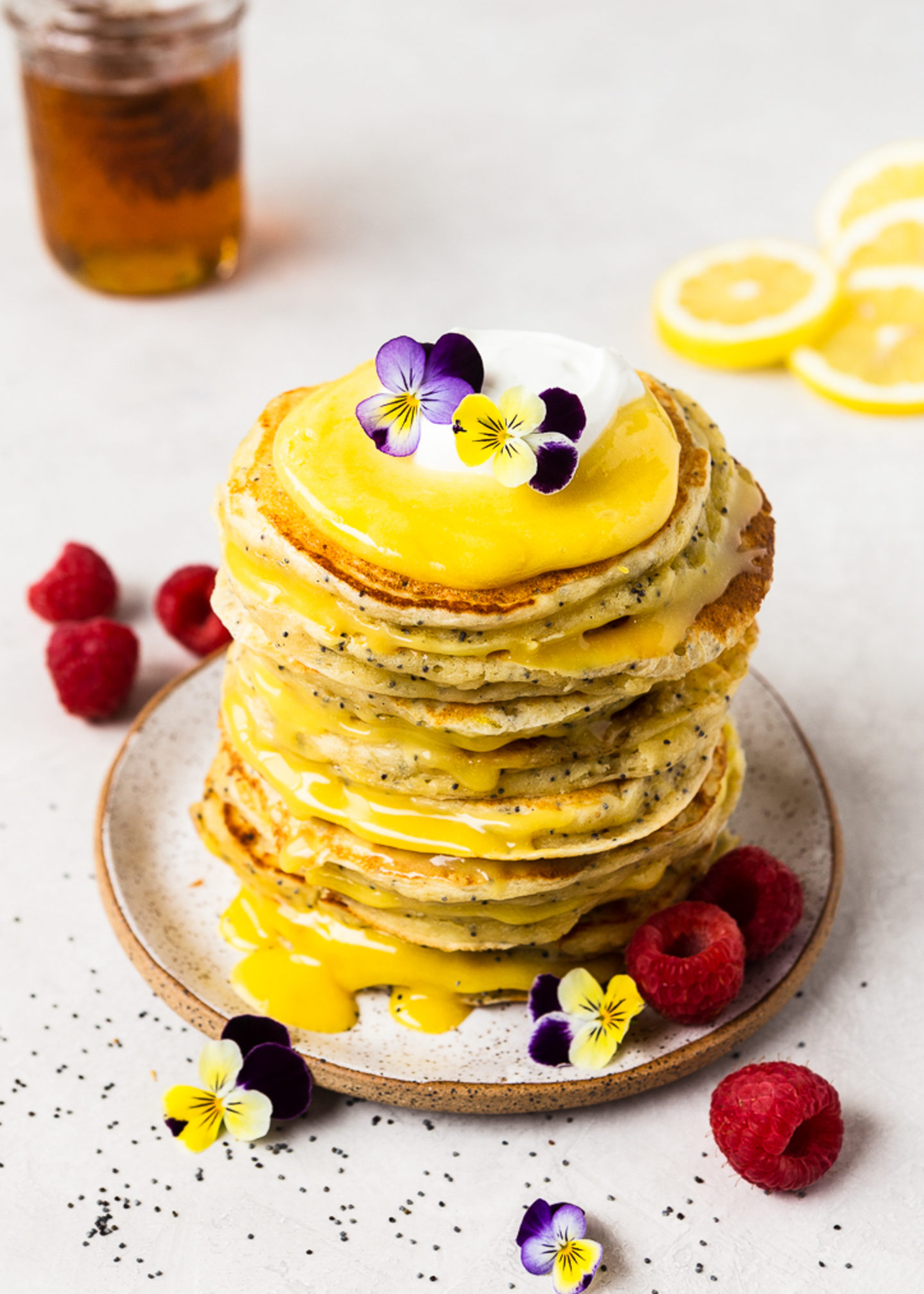 Lemon Ricotta Pancakes with Raw Honey and...