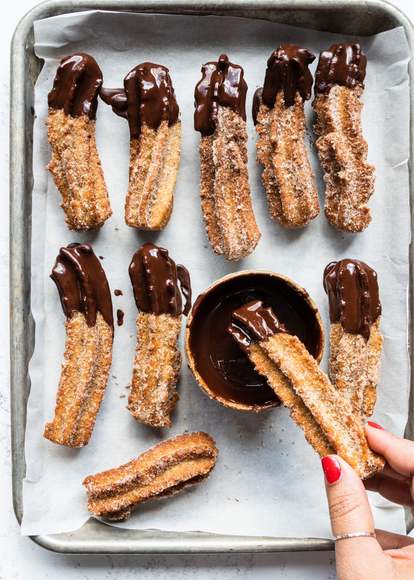 Chai Spiced Churros with Chocolate Sauce