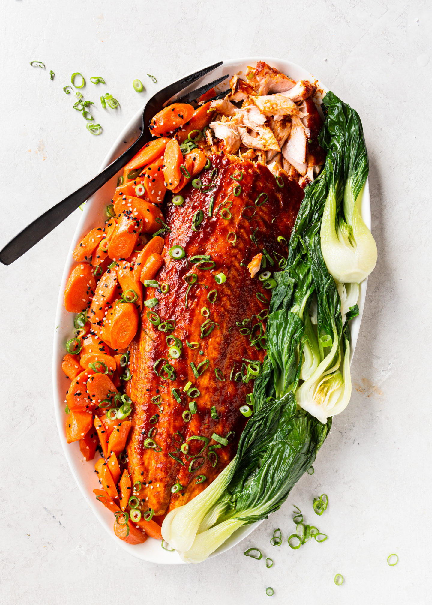 Gochujang Glazed Salmon with Bok Choy