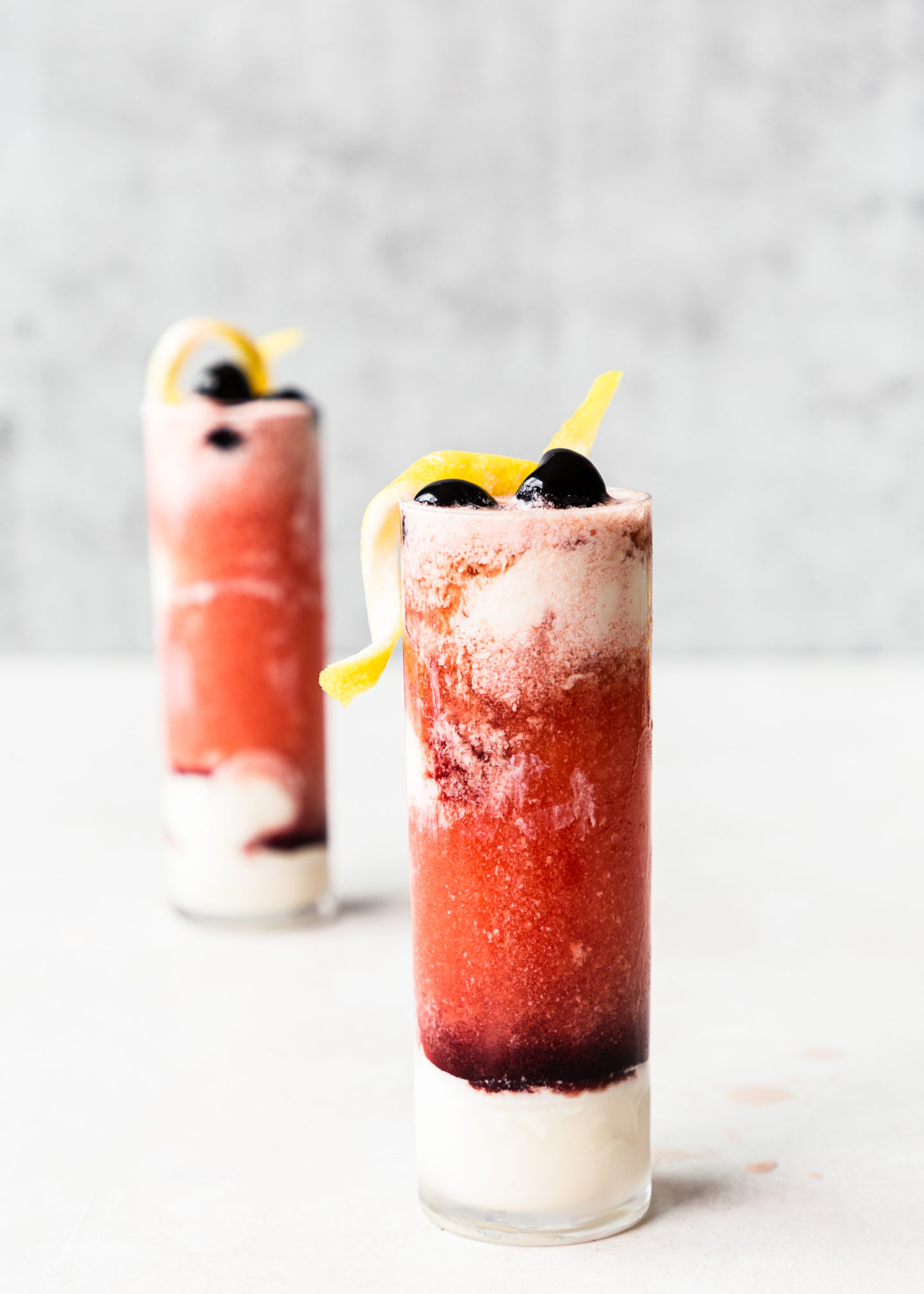 Sour Cherry Gin Ice Cream Floats