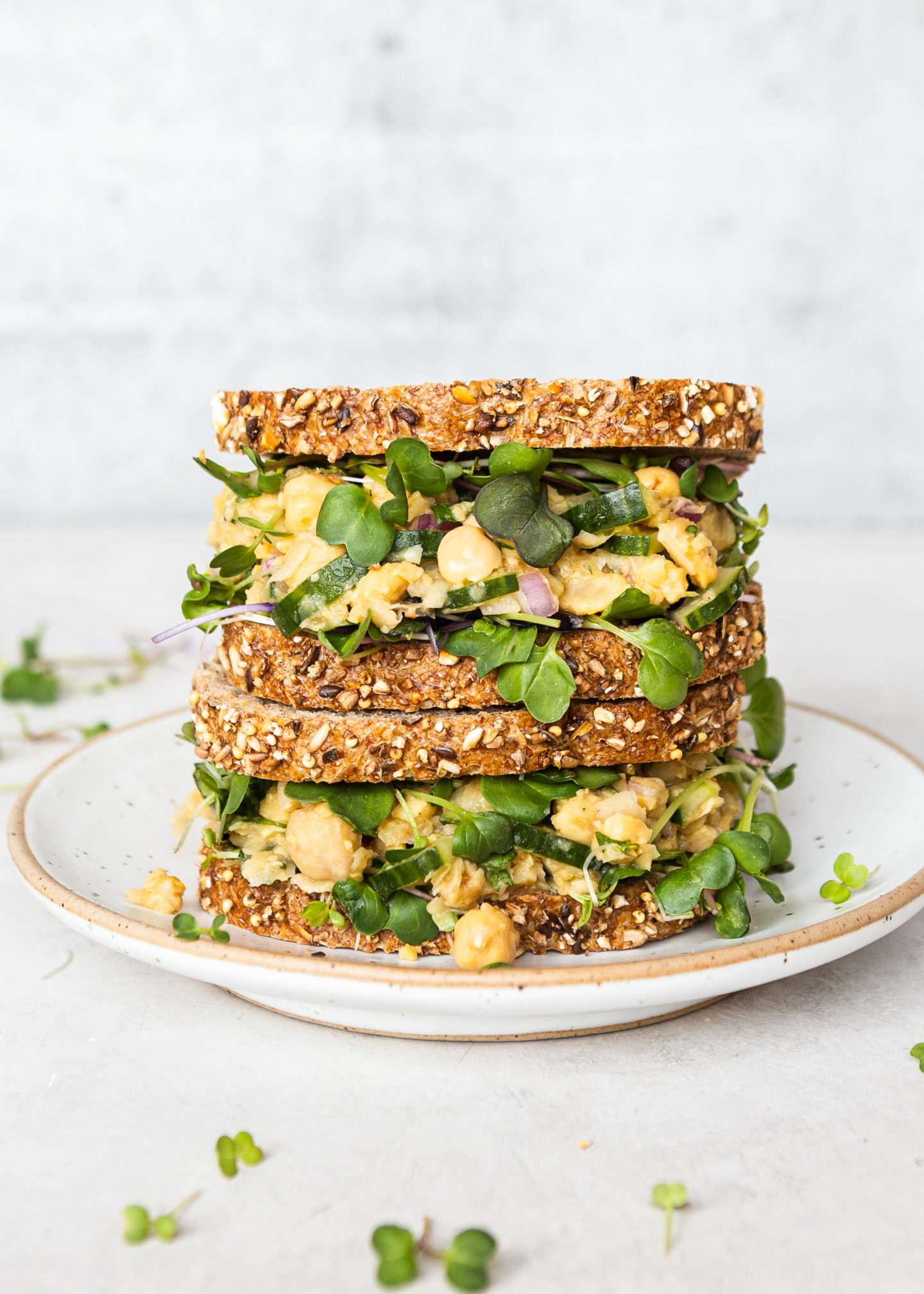 Summer Chickpea Smash Sandwich