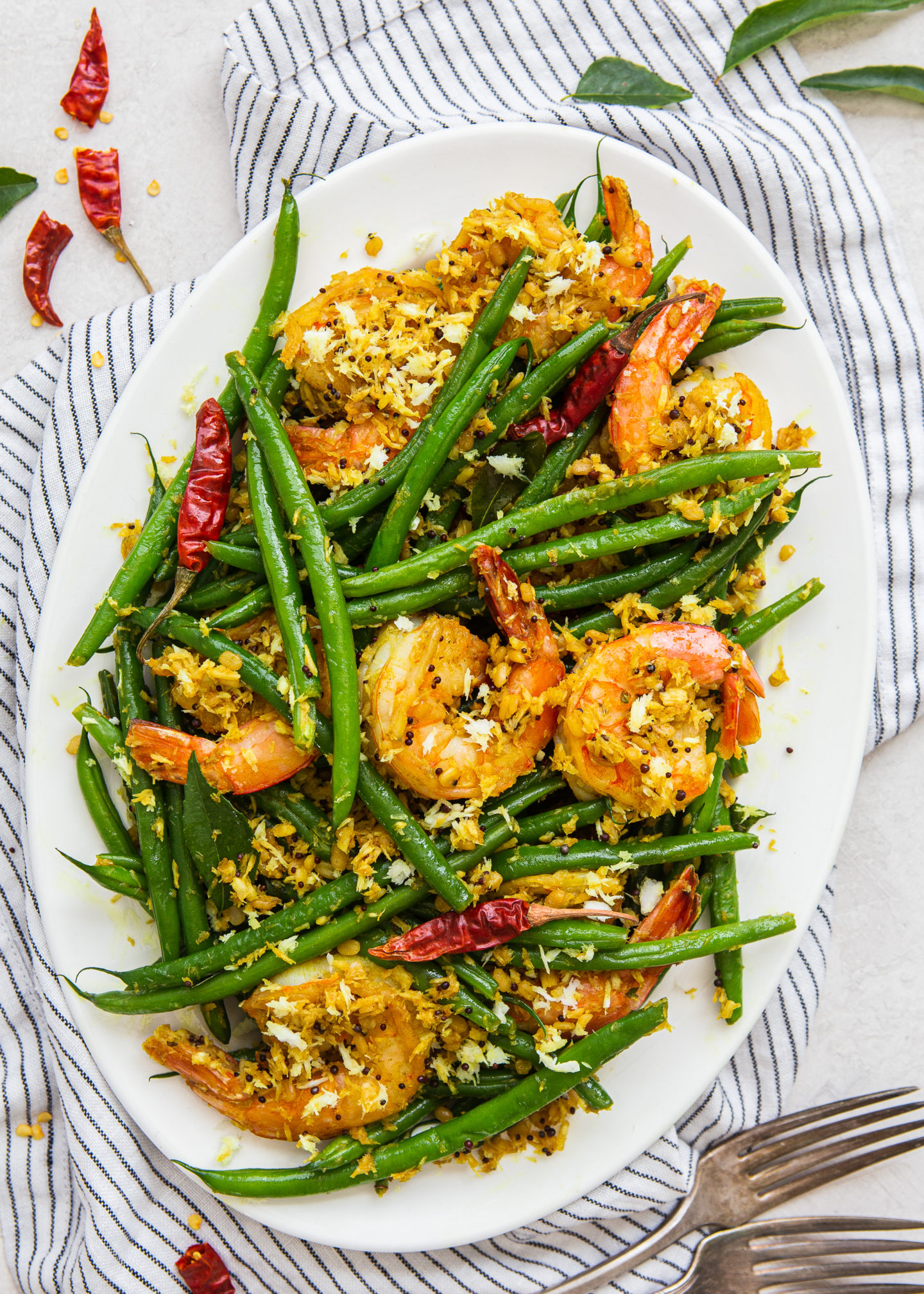Sauteed Green Beans with Shredded Coconut,...