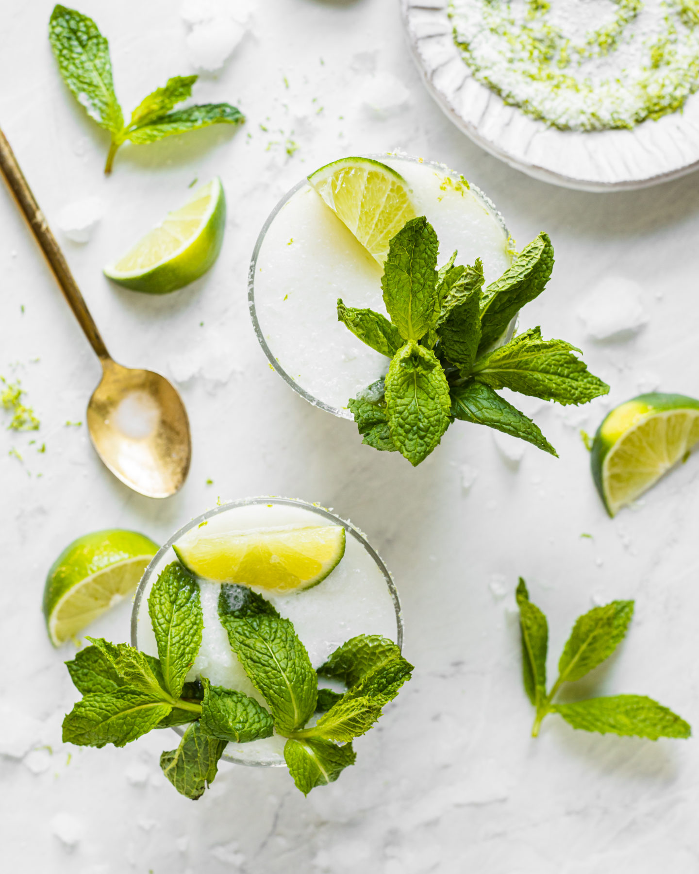 Coconut Lime Margarita with Mint