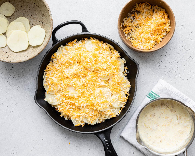 Potato Gratin with cheese