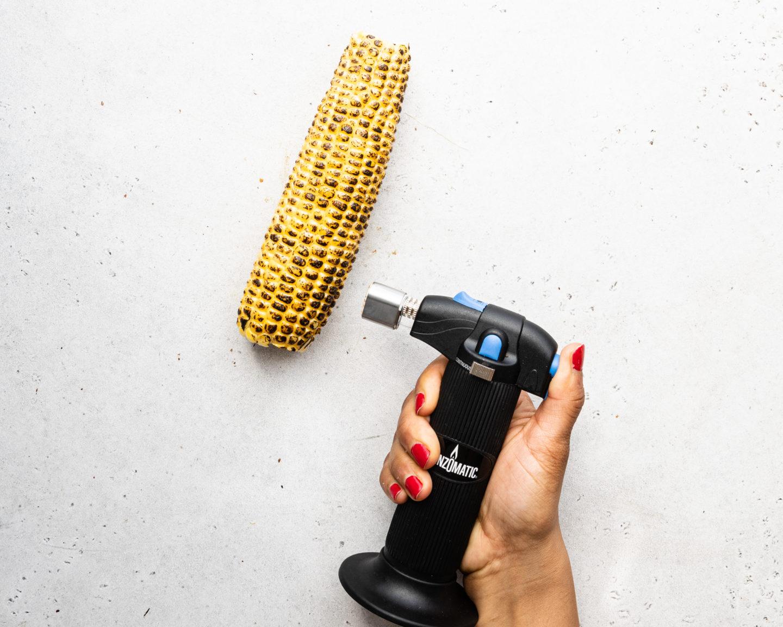 torching corn