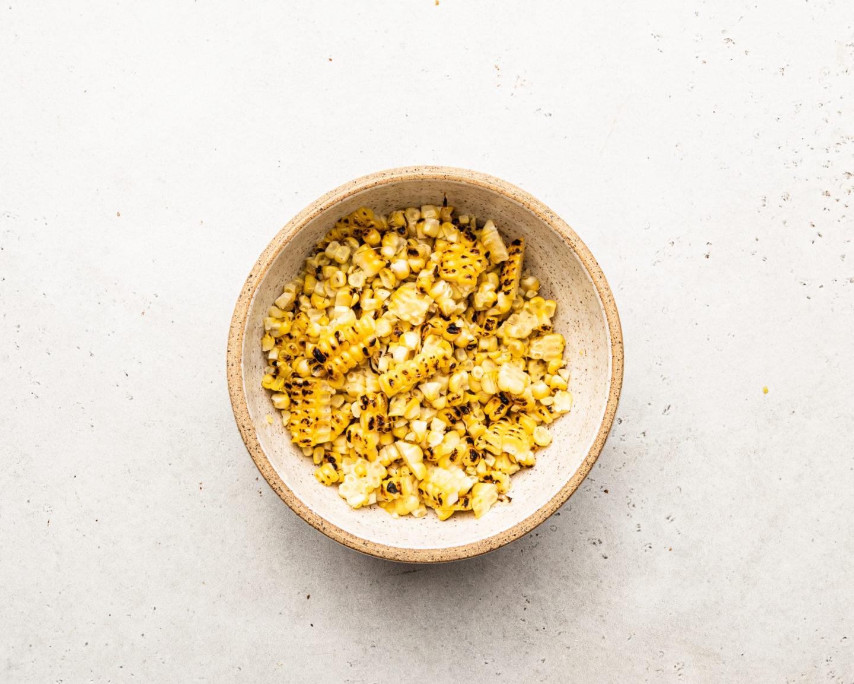 charred corn kernels